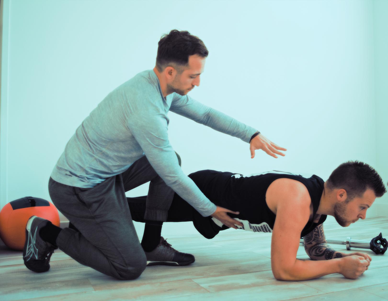 Goede houding bij push-ups